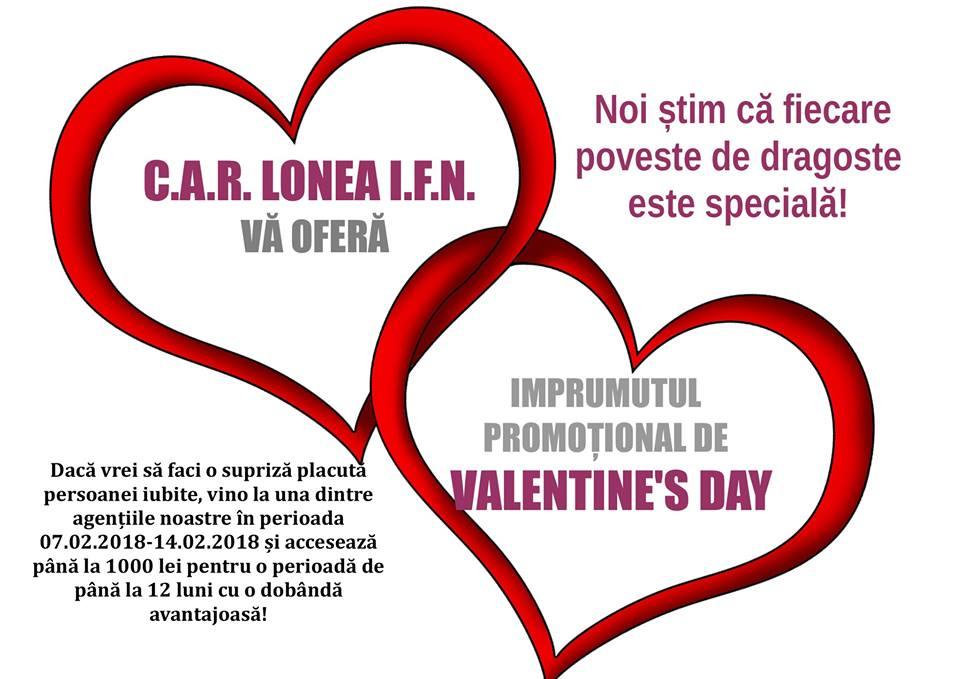 CAR LONEA iti da 1000 lei pentru Valentines Day