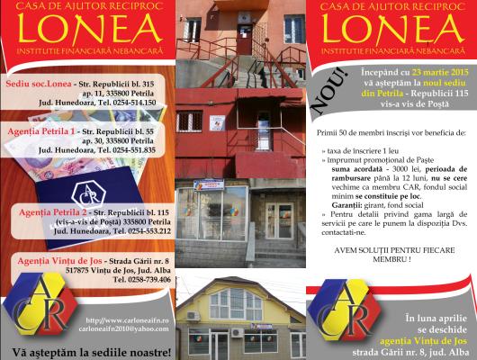 C.A.R. Lonea - Împrumuturi rapide și avantajoase